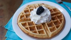 These waffles are super crisp on the outside, light as a feather inside and so scrumptious! Avoid removing them from the waffle iron too soon; they should be a golden brown. Enjoy!