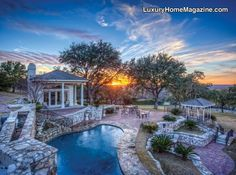 Enjoy spectacular sunsets from this awe inspiring outdoor space. Private inground pool, poolhouse, and extensive patios. This impeccable Dominion masterpiece perched high on 2+ hillside acres was designed to impress with spectacular views, a grand entryway, resort-style master suite, media room, guest kitchen, and an 11  …