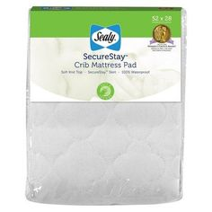 #donation Cozy, quilted softness plus a full fitted skirt makes the #Sealy #SecureStay Crib Mattress Pad a top choice for baby's bed. Plush knit top layer offers ...