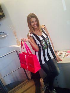 La bellissima e sorridente Cristina Chiabotto ci è venuta a trovare nel nostro showroom di Milano! #weloveit! #fashion #SS14
