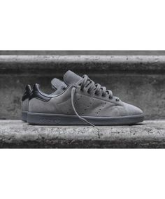 info for df26a fb81d Adidas Originals Stan Smith Solid Grey Black Trainers Sale UK Grey  Trainers, Suede Trainers,