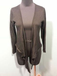 Vertigo Paris Black Silk Cashmere Open Front Draped Knit Cardigan Sweater L Euc #Vertigo #OpenFrontDrapedCardigan $16 Free Shipping!