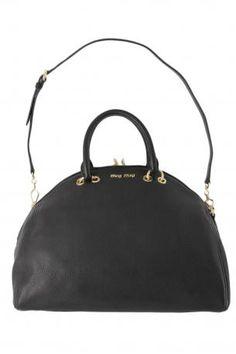 885f70c0cc8 miu miu bauletto bag. Black color soft hammered deer leather handbag or shoulder  bag.