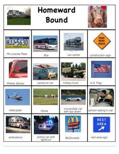 Car Bingo game for the ride home