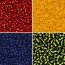 Exclusive Beadaholique Toho Seed Bead Palette, Round 11/0, 32 Grams, Cambridge Flat