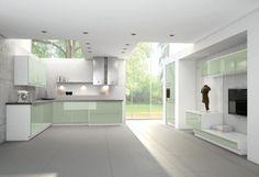 #Küche in Grün #Wohnküche www.dyk360-kuechen.de