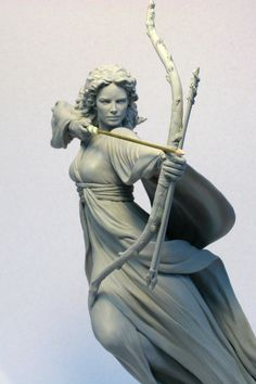 Serafina Pekkala, the warrior queen of the witches - in His Dark Materials / The Golden Compass- sculpted by MarkNewman on DeviantArt