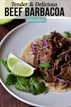 Barbacoa is so easy to to make in your slow cooker for a tender, delicious beef barbacoa recipe that rivals that Chipotle favorite! Crockpot Recipes Mexican, Pork Recipes, Slow Cooker Recipes, Whole Food Recipes, Cooking Recipes, Easy Weeknight Meals, Quick Easy Meals, Most Popular Recipes
