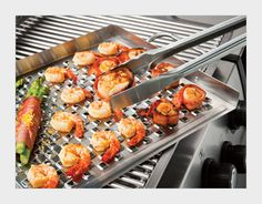 Flat Grill Topper  - Grill seafood and other small items with ease.