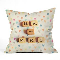 Mr And Mrs Throw Pillow now featured on Fab.