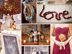 {cranberries and wheat} ideas for a fall and autumn wedding