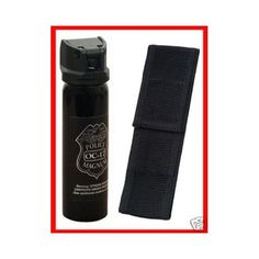 Ounce Pepper Spray With Nylon Holster. Flip Top Design Can For Safety. Also Contains UV Dye for Identification. Survival Essentials, Survival Gear, Self Defense Weapons, Survival Equipment, Bug Out Bag, Camping Accessories, Health And Safety, Tactical Gear, Camping Gear