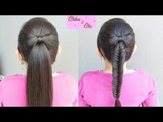 Cola o Trenza de Pescado/Espiga con Lazo de Cabello - Hair Bow into a fishtail | Chikas Chic - YouTube