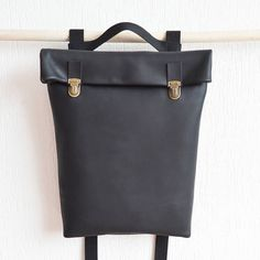 Leather Backpack/ Leather rucksack/ Women/ Tote/ Bag/Laptop/