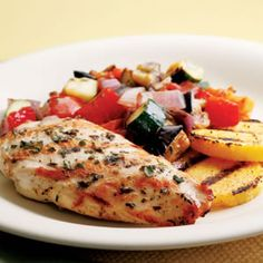 Grilled Chicken Ratatouille- from fitness magazine