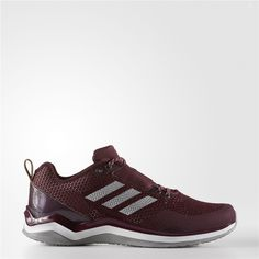 c7c1f49d1 Adidas Speed Trainer 3 Shoes (Maroon   Metallic Silver   Running White)  Baseball Shoes