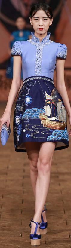 Zhang Zhifeng 2015 China Fashion Week S/S 2015 | Beautiful and elegant mandarin collar