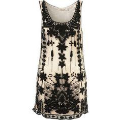 embellished shift dress via polyvore via topshop