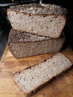 Tapas, al Horno y Pan: World Bread Day am 16.10.2020: mein Landbrot mit Vollkorn Tapas, Bread Baking, Banana Bread, Breakfast, Breads, Desserts, Greek Yogurt, Bakeware, Baking
