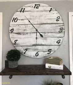 Big Wall Clock Farmhouse Clock Large Clock Oversized Clock Handmade Wooden Clock Pallet Clock Rustic Clock Reclaimed Wood Clock Decor by TwoMooseDesign on Etsy Big Wall Clocks, Wood Clocks, Large Wooden Clock, Large Clock, Oversized Clocks, Pallet Clock, Wall Decor Amazon, Farmhouse Wall Clocks, Farmhouse Decor