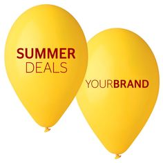 Summer Promotional Balloons Printed With Your Brand Logo. 1-8 Spot Colour Printing or Full Colour HD Printing in CMYK. Print Up to 4 Sides, Same or Different Designs!  #printedballoons #brandedballoons #promotionalballoons #printed #balloons #promotions #promotional #products #branding