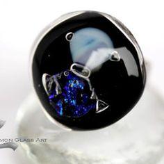 Kaleidoszkóp ékszerek, játék a színekkel - Czinamon Üvegékszer Glass Ring, Glass Jewelry, Heart Ring, Rings, Ring, Heart Rings, Jewelry Rings