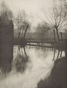 Plate XXV Footbridge Near Chingford Denotes An Original  EMERSON, PETER HENRY, b.1856-1936  The Compleat Angler, 1888
