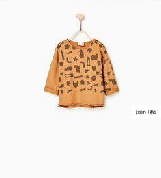 ZARA - KINDER - Jerseyshirt mit Silhouetten-Print