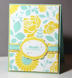 Stampin Up colors I luv together: Pool Party and Daffodil Delight...