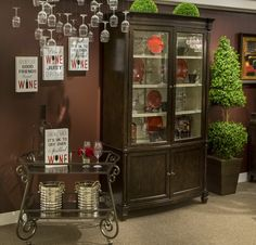 Add an attractive way to display your stylish decorative items with this immaculate display cabinet. #wineanddine #red #wine #dinning