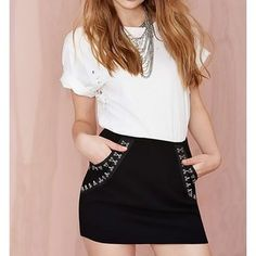 Quattro mini skirt at Style Moi