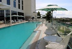 Our classic Party brellas shading the pool terrace at The Dalmar in strike the perfect balance between form and function. Visit our link in bio to receive our three great tips for staying safe in the sun this summer! Shade Umbrellas, Outdoor Umbrellas, Luxury Living, Modern Living, Outdoor Living, Outdoor Decor, Fort Lauderdale, Luxury Lifestyle, Modern Decor