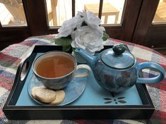 Dragonflies and Shortbread – Teatime With Heidi Hand Painted Pottery, Pottery Painting, Baking Websites, Small Batch Baking, Lemon Shortbread Cookies, Lapsang Souchong, Black Tray, Tea Blog, My Tea