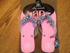 283b2d9db10c03 Silly Sandals Pink Multiple Soccer Flip Flops Size 9    You can find more  details by visiting the image link. (This is an affiliate link)   ...