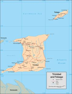 Trinidad & Tobago Maps - Trinidad & Tobago Weddings