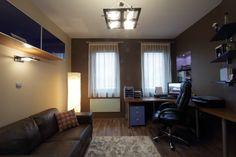Dolgozószoba, férfias hangulatú szín összeállításban. Conference Room, Table, Furniture, Home Decor, Decoration Home, Room Decor, Tables, Home Furnishings, Home Interior Design