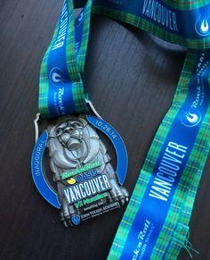Rock n Roll Vancouver Half Marathon Finisher Medal Design 2014