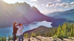 Peyto lake Banff National park Calgary British Columbia...