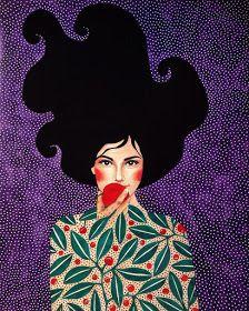 Por amor al arte: Hülya Özdemir Art And Illustration, Illustrations, Portrait Art, Portraits, Belle Photo, Female Art, Art Pictures, Art Inspo, Art Girl