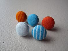 Fabric covered push pins