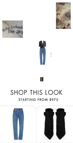 """9.14"" by mjschuma ❤ liked on Polyvore featuring Vetements, Yves Saint Laurent and Blue Blood"