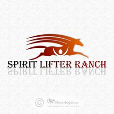 Horse logo design created for Chip Reeves of Spirit Lifer Ranch in Sedona AZ. Copyrighted by new owner. You can purchase your own custom logo at Horse-Logos.com #horse  #art #logo #equine #graphic #equestrian #design #brand #branding #identity #trademark