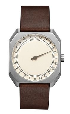 DARK BROWN VINTAGE LEATHER, SILVER CASE, CREAM DIAL https://www.slow-watches.com/dark-brown-vintage-leather-silver-case-cream-dial.html