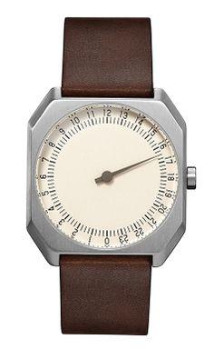 DARK BROWN VINTAGE LEATHER, SILVER CASE, CREAM DIAL https://www.slow-watches.com/dark-brown-vintage-leather-silver-case-cream-dial.html
