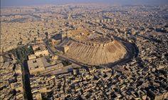 Aerial view of Aleppo, Syria. http://archilaura.blogspot.it/2015/11/wonderful-syria.html