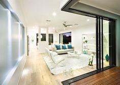 Modern lounge room - new home design