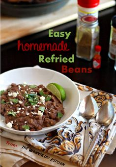 How to make homemade refried beans in under 30 minutes - so easy and WAY better than the canned stuff!