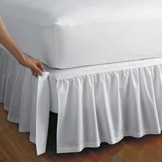 "Detachable Gathered Bedskirt - 14"" drop"