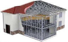 Light #Steel frame #Houses allow you to add precise 3D modeling in your building construction.