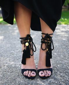 these DIY tassel sandals are unreal, and we need to make them immediately.